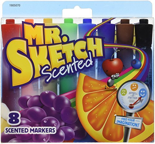 Assorted Colors Mr Sketch Mr Sketch Watercolor Scented Marker Set 4-7//8 x 3//4 in 059361 School Specialty