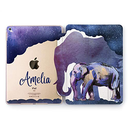 Wonder Wild Night Elephants Design Case for Apple iPad 2 3 4 Pro 9.7 11 inch Mini 1 2 3 4 5 Air 2 10.5 12.9 2018 2017 5th 6th Gen Clear Smart Hard Cover Animals Space Stars Personalized Universe
