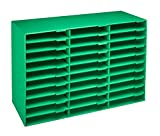 AdirOffice File Organizer Classroom - Office - Home - Corrugated Cardboard (30 Slots, Green)