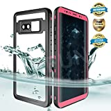 EFFUN Samsung Galaxy Note 8 Waterproof Case, IP68 Certified Waterproof Underwater Cover Dust/Snow/Shock Proof Case with Phone Stand, PH Test Paper and Floating for Strap for Samsung Note 8 Pink
