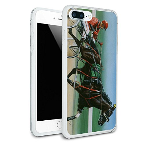 Harness Racing Horse Sulky Trotter Protective Slim Fit Hybrid Rubber Bumper Case Fits Apple iPhone 8 Plus -  Graphics and More, IPHONE8PLUS.BUMPER.QQJQLMG00.Z001443_8