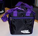 LaneHawk 1 Ball Mini Tote Bowling Bag Black/Purple!!
