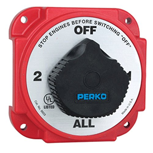 Perko Battery Switches Alternator - Perko Heavy Duty Battery Selector Switch w/Alternator Field Disconnect Marine , Boating Equipment
