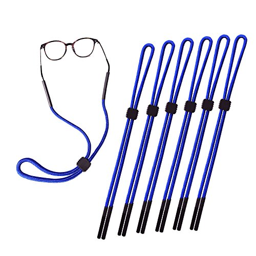 Pack of 6 Sunglass Holder Strap For Men and Women, Great for Sports and Outdoor Activities, Safety Glasses Sunglasses Holder Eyeglasses Neck Cord String Eyewear Retainer Strap - Cord Glasses