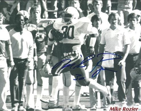 Autographed Mike Rozier Photo - Nebraska Cornhuskers 8x10 ~ 1983 Heisman Trophy Winner - Autographed NFL Photos -