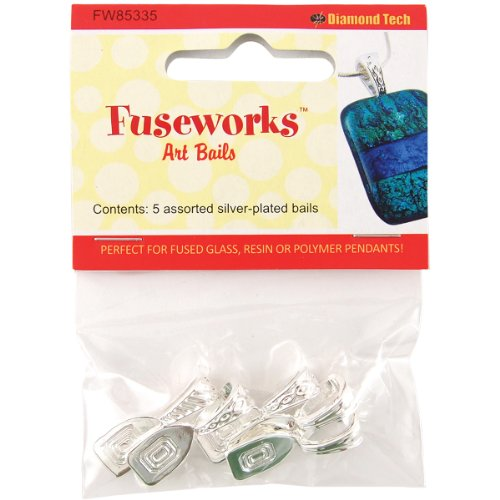 Fused Glass Pendant Jewelry (FUSEWORKS Art Bails, Silver)