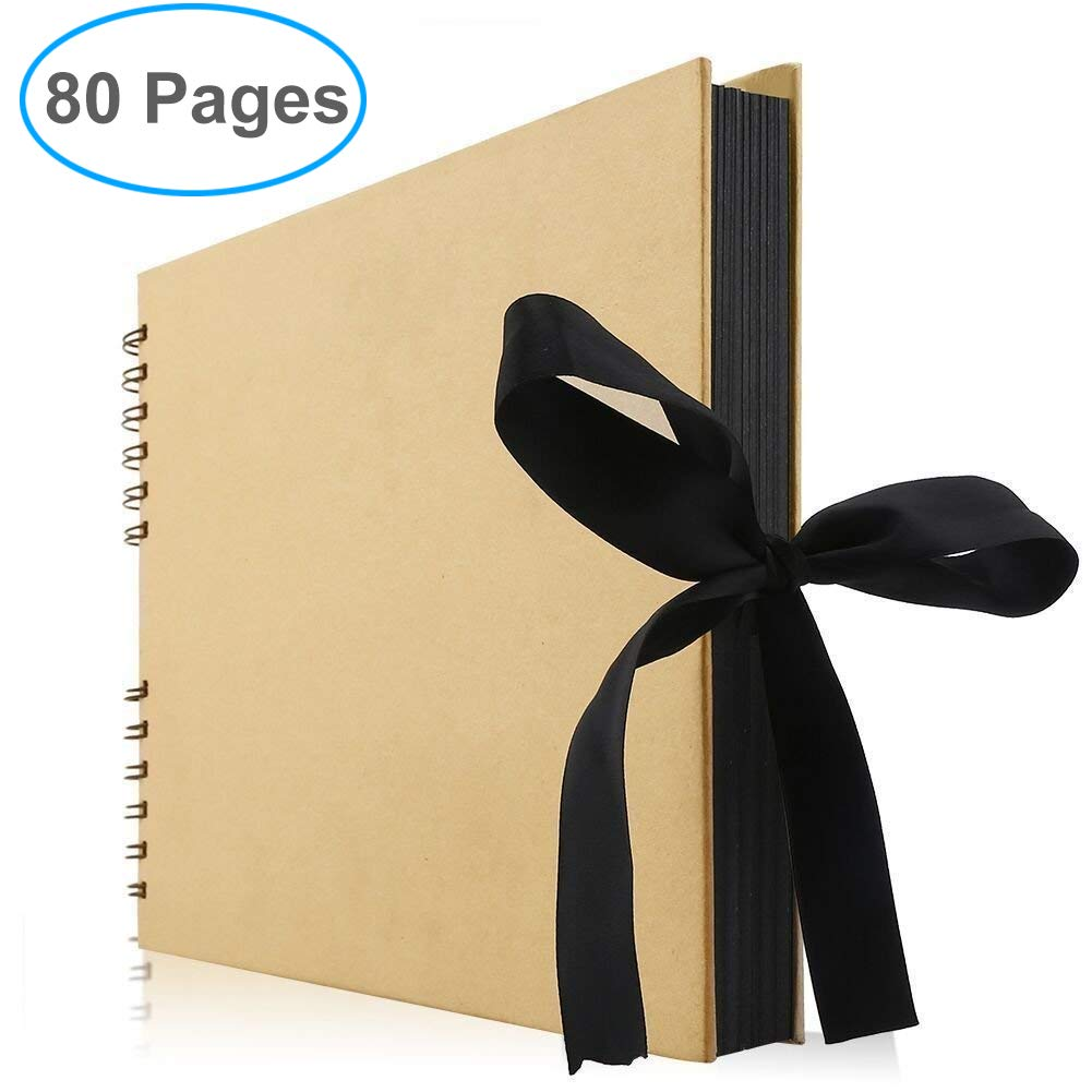 Gotideal 80 Pages DIY Scrapbook Album Craft Paper Wedding and Anniversary Photo Album Family Scrapbook DIY Accessories and Scrapbooking Supplies(Black)… 4336981011