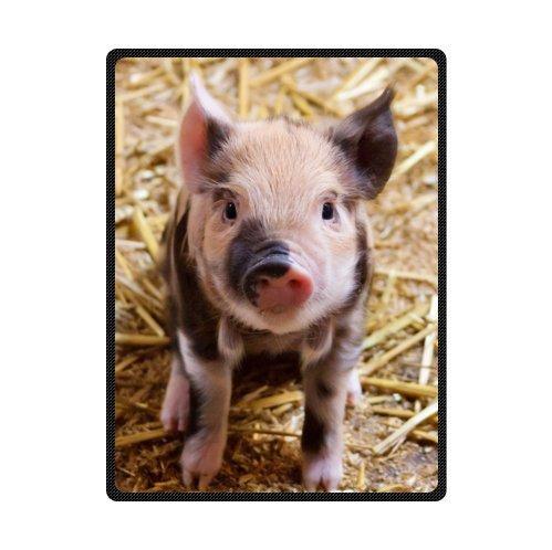 TSlook 60x80 Blankets Funny Lovely Litte Pig Comfy Funny Bed Blanket