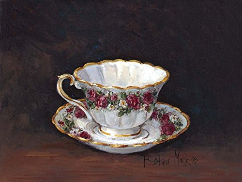 Rose Bouquet Teacup by Barbara Mock Art Print, 19 x 14 inches