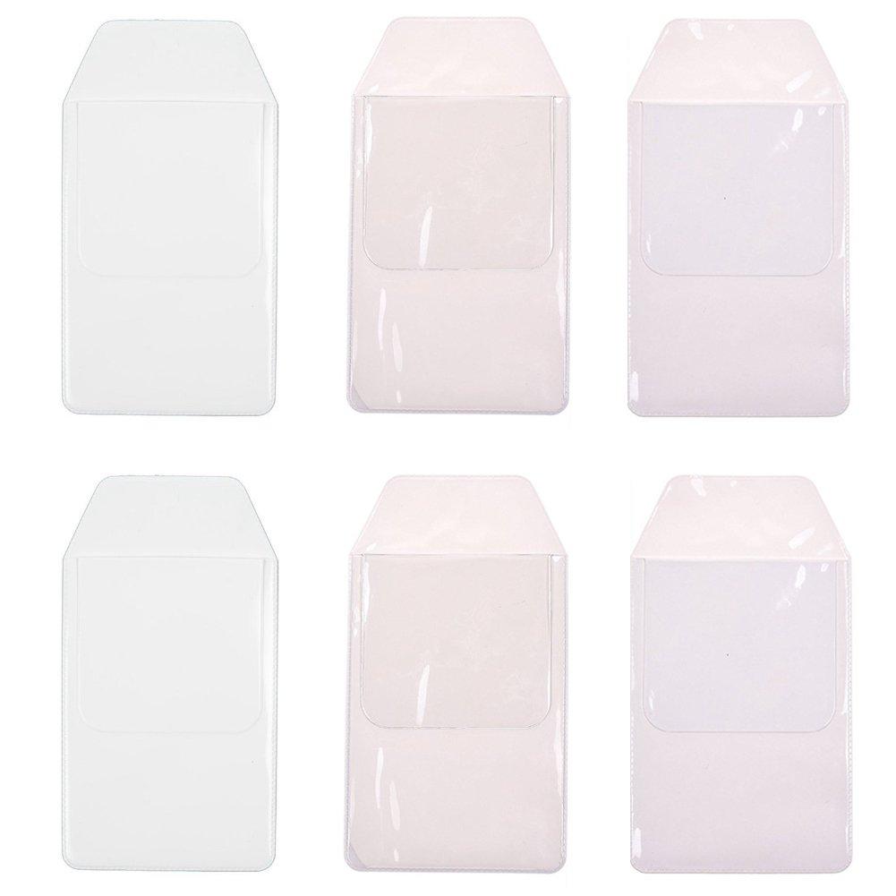 Pocket Protectors for Pen Leaks,School Hospital Office Supplies,6 Pack,Transparent,White
