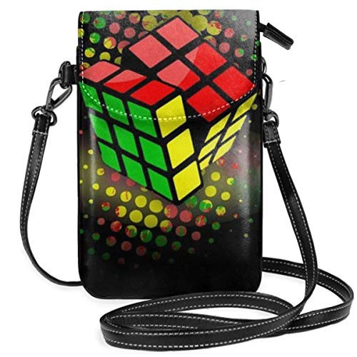 Small Cell Phone Purse For Women Leather Cube