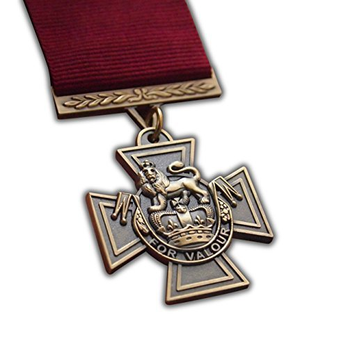 The Victoria Cross Medal Full Size Highest British Military Award for Conspicuous Bravery to | ARMY | NAVY | RAF | RM | SBS | PARA High Quality Reproduction (Army Awards And Ribbons Order Of Precedence)