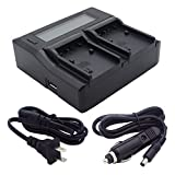 Kapaxen Dual Channel Battery Charger for Sony NP-FV30 NP-FV40 NP-FV50 NP-FV70 NP-FV90 NP-FV100 Digital Camera/Camcorder Batteries