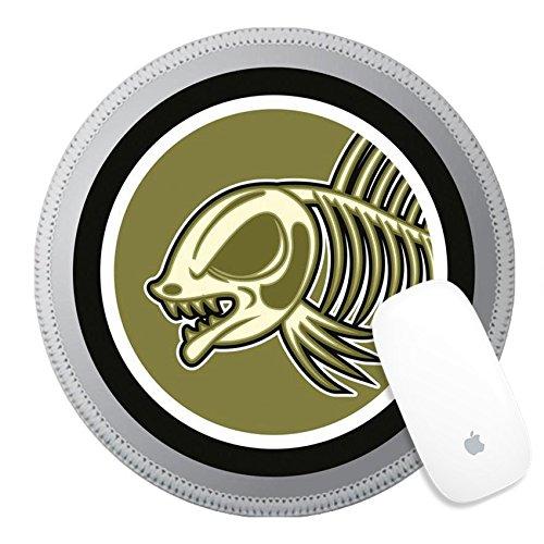 Luxlady Round Gaming Mousepad ID: 40843461 Dead fish Circle sticker Fish Round Sticker