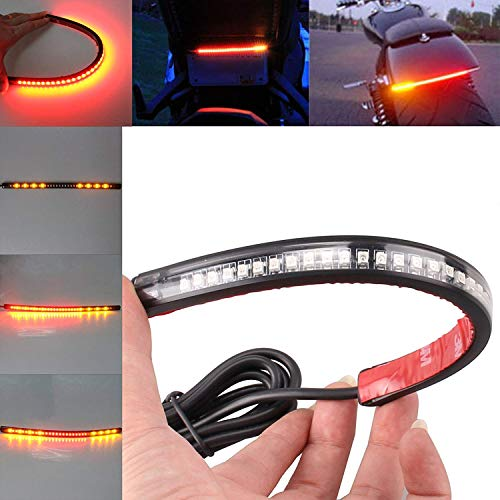 Motorcycle Led Tail Lights - Universal 32 LED Light Strip Tail Trailer Brake Stop Turn Signal 3528 SMD 8