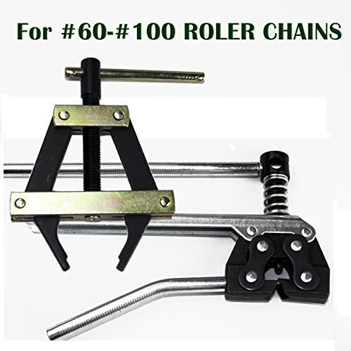 - Roller Chain Tools Kit For ANSI #60 #80 #100 And More, Chain Holder/Puller and Breaker/Cutter