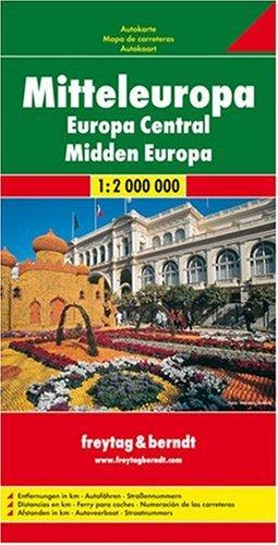 Freytag Berndt Autokarten : Mitteleuropa; Central Europe; Europe Centrale; Europa Centrale (Country Road & Touring)