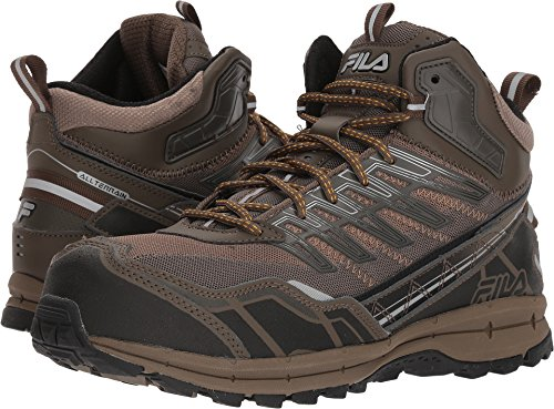 Fila Men's Hail Storm 3 Mid Composite Toe Trail Work Shoes Hiking, Walnut/Major Brown/Gold Fusion, 10 D US