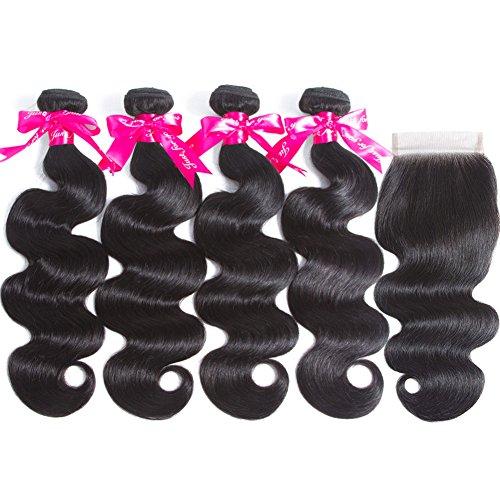 Brazilian-Human-Hair-Bundles-with-Closure-10A-Brazilian-Body-Wave-4-Bundles-with-Free-Part-Lace-Closure-Natural-Color-16-18-20-2214-Natural-Color
