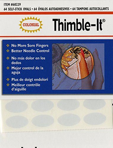 Skin Thimble - Colorbok 60229 Thimble-It Finger Pads, 64 Per Package