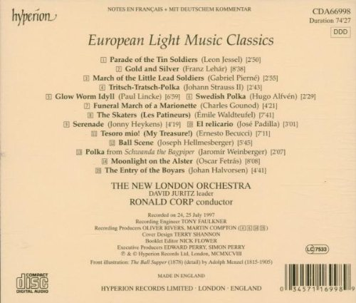European Light Music Classics by Hyperion UK