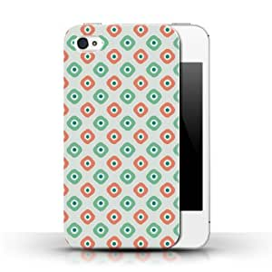 KOBALT? Protective Hard Back Phone Case / Cover for Apple iPhone 4/4S | Green Design | Marshmellow Collection