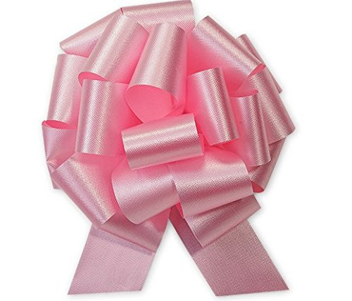 Pink Flora Satin 5.5 Inch 20 Loop – Set of 10 Gift Wrap Christmas Wedding Gift Wrap Pull Bows Pull String Bows