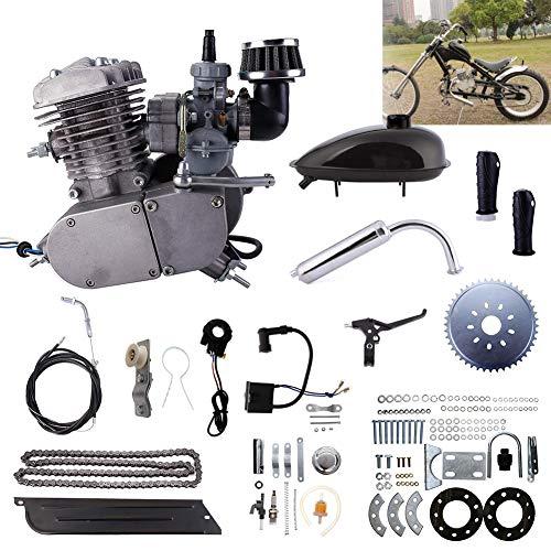Kinbelle 80cc 2-Stroke Bicycle Gasoline Engine Motor Kit DIY Motorized Bike Single Cylinder Air-cooled (Upgraded Version) ()