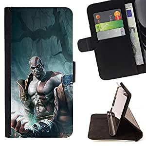 Jordan Colourful Shop - God War Warrior For Apple Iphone 6 PLUS 5.5 - < Leather Case Absorci????n cubierta de la caja de alto impacto > -