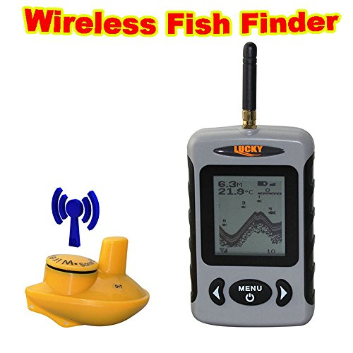 Lucky FFW718 Portable Wireless Fish Finder Alarm 40M/120FT Sonar Depth Ocean River Lake Fishing