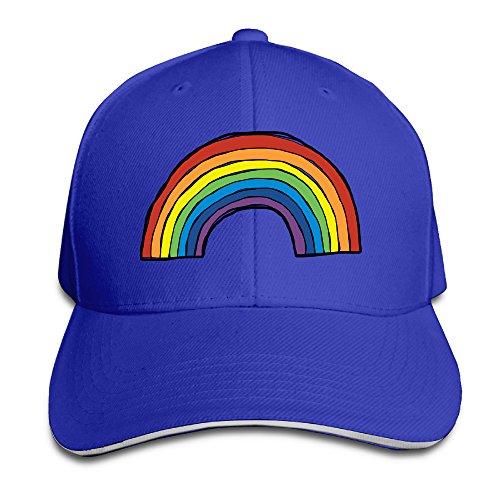 Fascinating Arc-en-ciel Rainbow Snapback Hat Cool Sandwich Cap