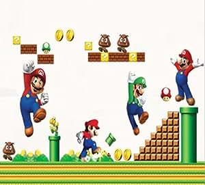 Super Mario Bros. Gigante etiquetas de la pared, jardín, césped, Mantenimiento