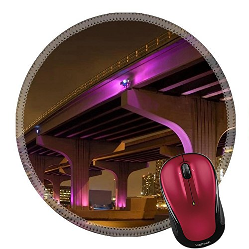 Liili Round Mouse Pad Natural Rubber Mousepad Wide Angled Soft Focus Bridge IMAGE ID - Shipping Expressway