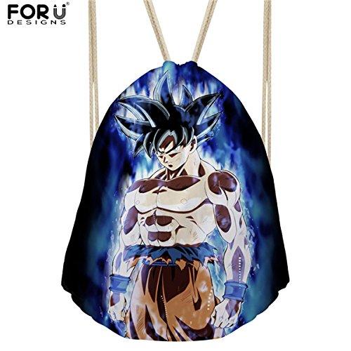 GreenSun(TM) Anime Dragon Ball Super Kids Drawstring Bags Men Travel Backpack Shoulder Bags for Boys Cartoon Storage Bolsa (Dragon Ball Carts)