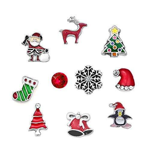Charmed Craft Christmas Gifts Love Snowman Snowflake Floating Charms For Glass Living Memory Lockets (3)