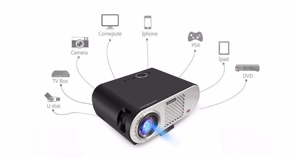Full HD 720P 1280 * 800 3200 Lúmenes Teatro en Casa LED LCD Mini ...