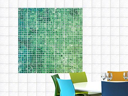 Immagine mattonelle sticker piastrelle per cucina mosaico verde