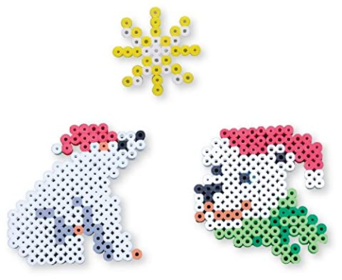 Perler Beads Biggie Bead Fused Bead Kit, Santa Polar Bear