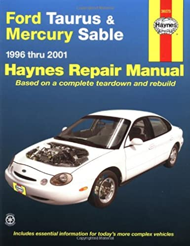 ford taurus mercury sable 1996 2001 haynes manuals john haynes rh amazon com 1998 Mercury Sable 1996 mercury sable repair manual free download