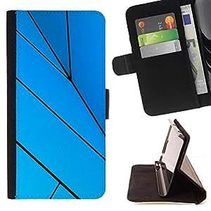 Kingstore / - Fondo forrado de azul a rayas - Sony Xperia Z1 L39