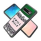 Samsung Galaxy S10 Plus Phone Case, Chill Pills Black Anti-Scratch Lithe Shockproof Rubber Bumper Protective Case for Samsung Galaxy S10 Plus