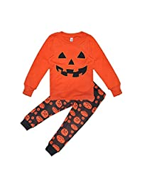 Growing Wild Boys Cute Halloween Pumpkin Print Clothing Set Sweatshirt & Pants