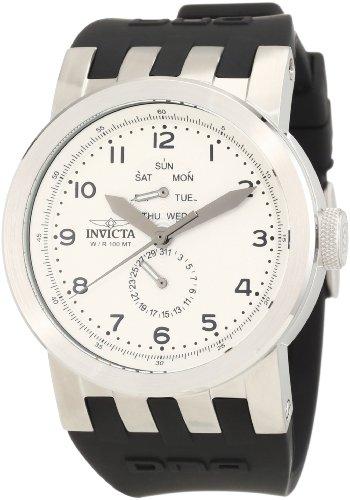 White Dial Black Silicone - Invicta Men's 10389 DNA Vintage White Dial Black Silicone Watch