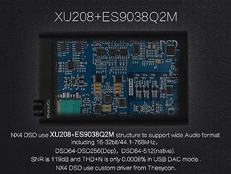 Black Topping NX4 DSD XMOS-XU208 Chip DAC ES9038Q2M Chip Portable USB DAC DSD Decoder Amplifier Headphone AMP Amplifier