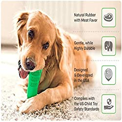 Viet's Bite Toys Dogs - Bristly Dog Puppy Toothbrush Chewing Teething Stick Pet Oral Dental Health Care Tool - Medium Size (25-40lbs Dogs) - Dog Toothbrush