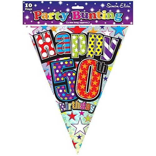 50th Birthday Buntings: Amazon.co.uk