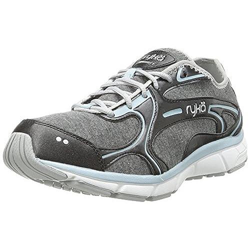 RYKA Women's Prodigy 2 Stretch Running Shoe,Black/Sterling Blue/Chrome  Silver,6.5 M US