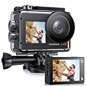 Campark X40 Action Camera 4K 20MP WiFi Dual Screen Underwater Camera 40M Waterproof Vlog Camera with Touchscreen EIS…