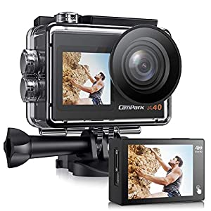Flashandfocus.com 51pv0SVca1L._SS300_ Campark Action Camera 4K 20MP Dual Screen EIS WiFi 40M Waterproof Underwater Vlogging Camera Men Gifts with Accessories…