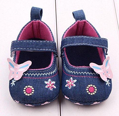 Zapatos de bebé,Tongshi Moda Bebé Zapatos Mariposa Niño Suela Suave Azul